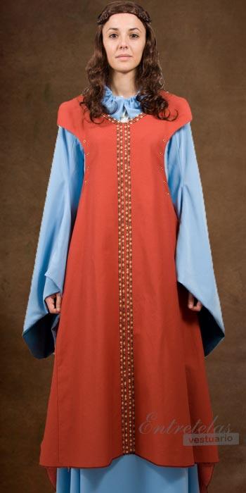 Edad media vestidos de mujer