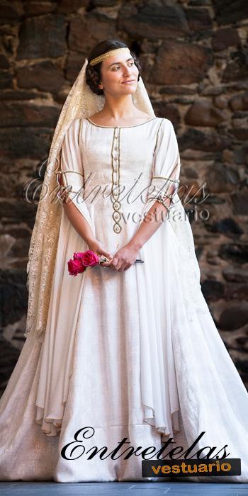 novia : siglos xiv - xv: baja edad media - gótico : entretelas