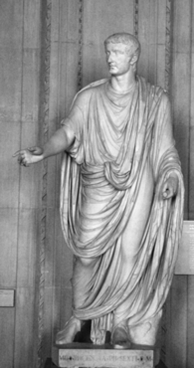 Toga, male civil suit in Rome